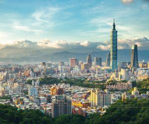 La tour 101, haute de 509 mètres, est l'un des emblèmes de Taipei, la capitale ultraconnectée de Taïwan.